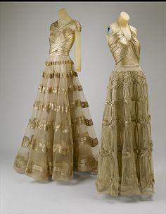 Vionnet evening dresses 1938 #partydress #romantic #feminine #fashion #vintage #designer #classic #dress #highendvintage