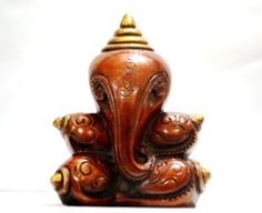 Ganesh Statue Hindu Ganesha God Elephant Lord Brass Ganpati India Sculpture