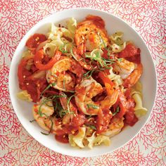 Sweet shrimp is ideal for spicy dishes like this. If you want just a light lick of heat, use 1/4 teaspoon red pepper. If you prefer more...