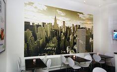 Above Manhattan - Wall mural, Wallpaper, Photowall, Home decor, Fototapet, Valokuvatapetit