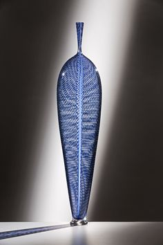 Dante Marioni STANDING RETICELLO LEAF (BLUE)  at the Traver Gallery