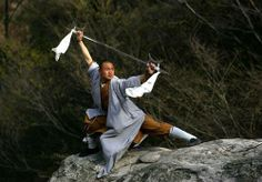 the shaolin can hook the two swords together and swing them for longer range. (quite effective)