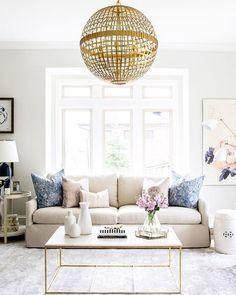 statement chandelier + airy neutrals