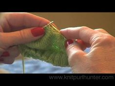 Knit Purl Hunter Video Lesson: Short Row Heel - Part 2 - YouTube