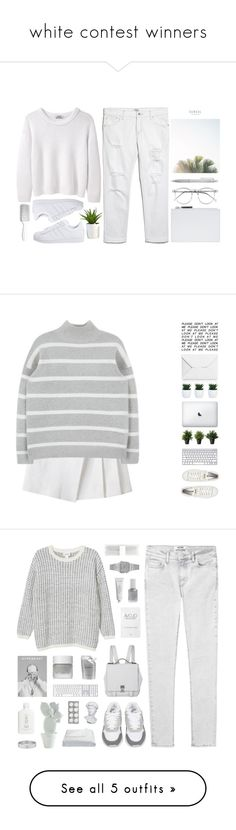 """white contest winners"" by f-resh ❤ liked on Polyvore featuring Acne Studios, MANGO, adidas Originals, Whistles, Muji, Wildfox, Hershesons, women's clothing, women and female"