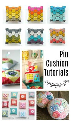Sewing Gifts Pincushion tutorials - perfect gift for a quilter or friend who sews - Over 50 ideas for gifts to make or buy for Quilters and those who love sewing! Sewing Hacks, Sewing Tutorials, Sewing Patterns, Sewing Ideas, Craft Tutorials, Sewing Projects For Kids, Sewing For Kids, Softies, Sewing Toys