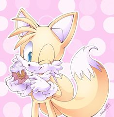 Tails and cupcake