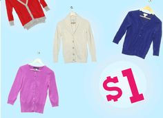 HOT #DEAL: $1 Cardigan #Sale - Get 45 For $26 Shipped! TODAY ONLY!  Great Brands such as Abercrombie and Fitch, J. Crew, GAP, Ralph Lauren, Banana Republic, Simply Vera Vang, Old Navy, Delia & More