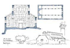 Syrie, 2010 Cités byzantines ruinées du massif calcaire. Basilique de Mouchabbak.