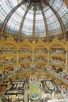 Galeries Lafayette Paris Haussmann #GaleriesLafayette #Paris #Fashion Make sure you add it to your #BucketList www.cityisyours.com