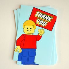 FREE Printable: Lego Party Thank You Notes // Cozy Reverie
