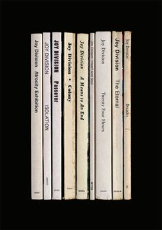 Joy Division album as books