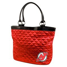 New Jersey Devils NHL Quilted Tote (Light Red)