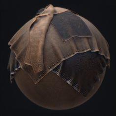 PBR Smart Material - Belt Leather, Paweł Łyczkowski on ArtStation at https://www.artstation.com/artwork/pbr-smart-material-belt-leather