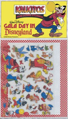 Kalkitos x Disney Rub-down transfers only. Thank you John Malecek for this image! (John bought this in Australia in 1988)