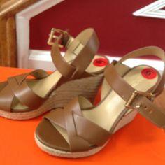 58a3bdcbc6 Michael Kors Shoes | Michael Kors Women Platform Sandals Size 6m New |  Color: Brown