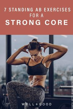 7 standing ab exercises that make you ditch the mat to really work your core - Ab Workout & Fitness Great Ab Workouts, At Home Workouts, Weekly Workouts, Fitness Tips, Health Fitness, Fitness Workouts, Women's Health, Yoga Fitness, Health Tips