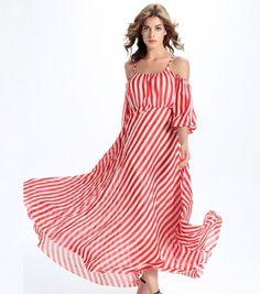 2913cba73ad4 Plus Size Striped Off-Shoulder Dress