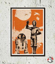 Vintage Pop Art Star Wars 3 Posters 40 Dollars por 2ToastDesign