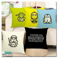 Cute star wars pillows !