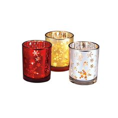 Snowflakes Tealight Trio by PartyLite #candles #Christmas #homedecor #diy