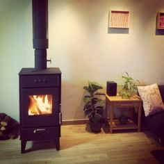 Wood burning stove at The Damyang House.