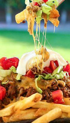 Mexican Food Recipes, Beef Recipes, Cooking Recipes, Potato Recipes, Hamburger And Fries, Good Food, Yummy Food, Delicious Recipes, Party