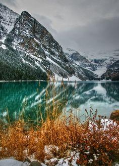 Winter Descending on Lake Louise
