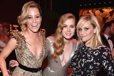 Elizabeth Banks, Amy Adams, and Reese Witherspoon at the Vanity Fair Oscar party