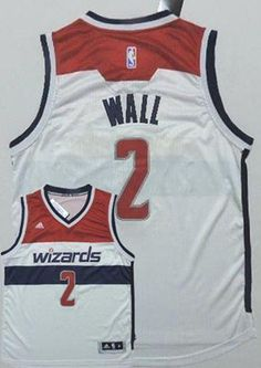 154578244 Washington Wizards John Wall White Home Stitched NBA Jersey