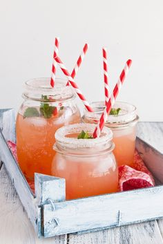 Pink Grapefruit Cocktails