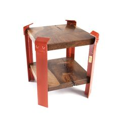 table made from pieces of the original Golden Gate Bridge- very cool modern pieces-http://www.touchofmodern.com/i/YLLYAZ5U get access here!