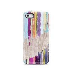 Rainbow Wood iPhone case