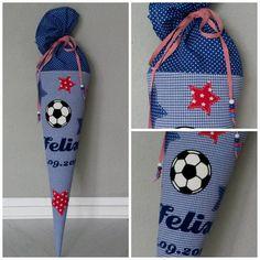Weitere von mir genähte Schultüte Fußball und Sterne Bügelbild © eva.totin | www.rompy.de | all rights reserved