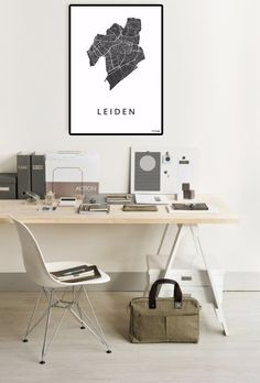 Leiden city map