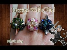 Greetings Musers! Today on this beading adventure I will be showing you how to make this nifty beaded ring with spike beads and Swarovski Crystals using the ...