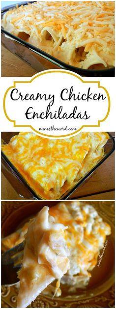 Creamy Chicken Enchiladas - NumsTheWord