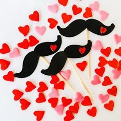 """Preview of my Mini "" I Mustache You To Be My Valentine"" Party-In-A-Box. Cupcake toppers.  #FrillyJevents #Eventstyling # #partyplanning #kidsparties…"""