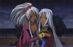 Hild, the Magna Regent of Hells and her daugther Urd, Half goddess half demon - Oh my goddess !Manga
