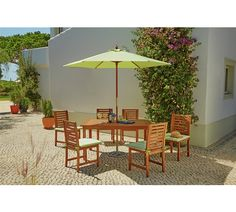 Buy Amalfi 6 Seater Patio Furniture Dining Set at Argos