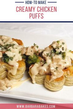 Made with frozen puff pastry sheets, these Creamy Cashew Chicken Puffs couldn't be easier or tastier for dinner any night of the week. #BarbaraBakes #cashewchickenpuffs #easychickenpuffs #cashewchicken #chickenpuffpastry Cashew Chicken, Creamy Chicken, Chicken Receipe, Frozen Puff Pastry, Puff Pastry Sheets, 30 Minute Meals, Quick Meals, Chicken Puffs, Puff Recipe