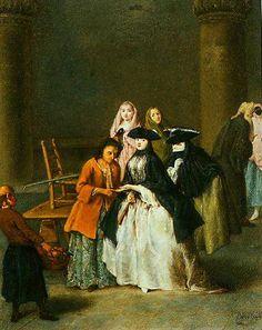 Pietro Longhi , A Fortune Teller At Venice 1756