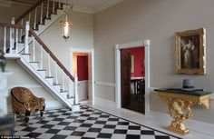 Lavish: Guests would be led into the home through the entrance hall, above, before being t...