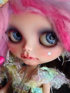 Custom Blythe Doll Pink Punk Candy Girl with OOAK Outfit Signed by Artist | eBay