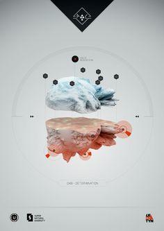 Science posters by Petr Hlavizna, via Behance