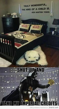 Star Wars Bedroom - http://2nerd.com/memes/star-wars-bedroom/