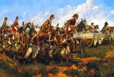 Forward by Bricole, Austrian artillery at the Battle of Essling- by Keith Rocco