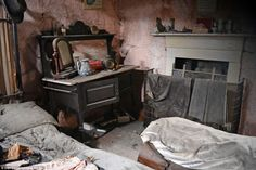 Inhospitable: Until just four years ago the Old Crow Cottage was a home to people but it has now been left to rot.