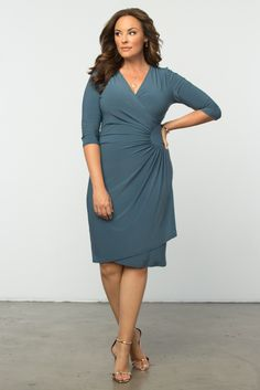 A flattering silhouette in a classic design like our plus size Ciara Cinch Dress is a sophisticated choice for the office. Browse our entire made in the USA collection and get more workwear inspiration online at www.kiyonna.com.