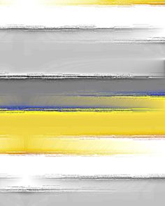 Striped Wall Art Yellow Grey White Blue 8x10 by HLBhomedesigns